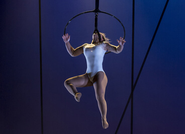 Espectaculo Yolo de la compañia de circo Lucas Escobedo